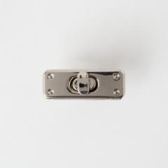 長型轉釦 銀色 42x15mm