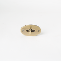 橢圓型轉釦 銅色 50X25mm