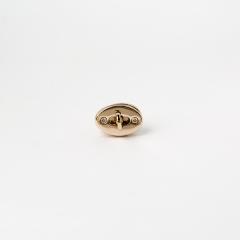 小橢圓轉釦 金色 26x15mm