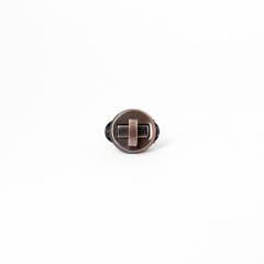 日製圓轉釦 紅銅色 23mmx23mm