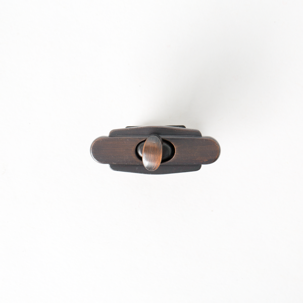 日製雙層轉釦 紅銅色 37mmX15mm