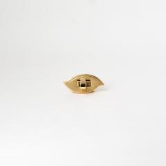 日製葉型轉釦 金色 40x20mm