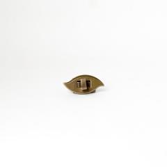 日製葉型轉釦 銅色 40mmX20mm
