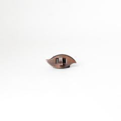日製葉型轉釦 紅銅 40x20mm
