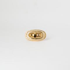 日製橢圓轉釦 金色 50x22mm