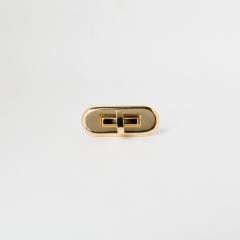 日製橢圓轉釦 金色 52x22mm