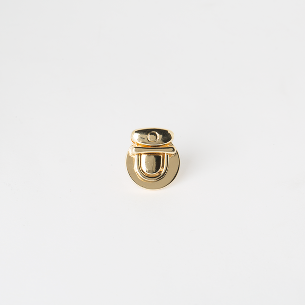 圓形鎖釦 金色 28x14mm