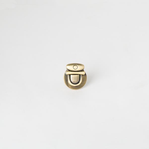 圓形鎖釦 青古銅色 28x14mm