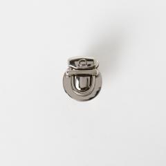 圓形鎖釦 銀色 28x14mm