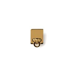 方形轉釦 金色20x25mm