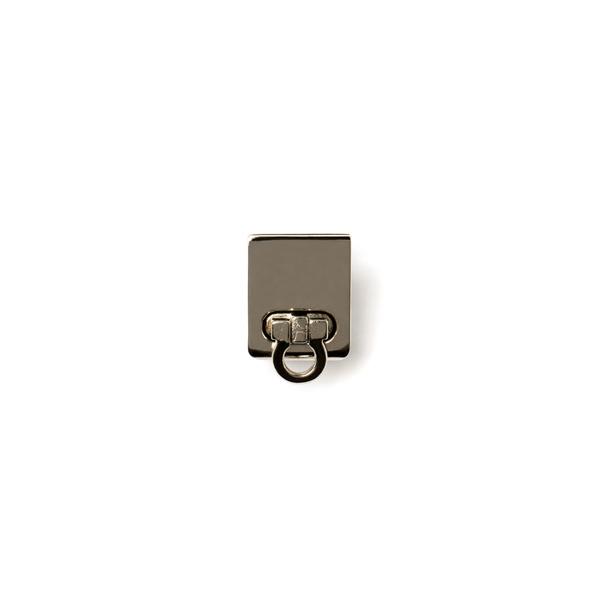 方形轉釦 銀色 20x25mm