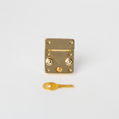 Kelly Square Bag Clasp Gold 35X30mm