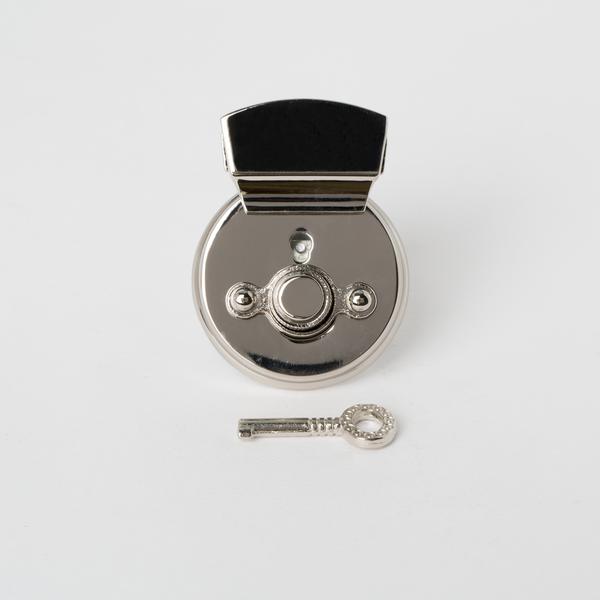 凱莉圓插釦 銀色 50x35mm