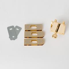 進口KL皮包轉釦 金色 4件式