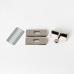 臺製KL皮包鎖釦 銀色 3件式不二價