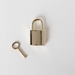 臺製KL皮包鎖頭 金色 2件式不二價