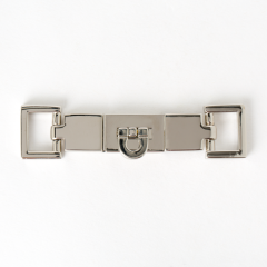 長方鎖釦 鉻銀色