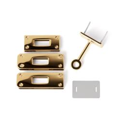 日製KL皮包箱鎖釦四件組 金色 47*15mm