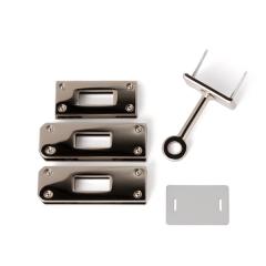 日製KL皮包箱鎖釦四件組 鎳白色 47*15mm
