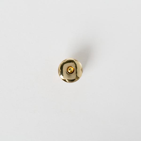 銅製花磁釦 金色 22x18mm
