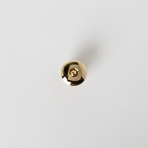 銅製圓磁釦 金色 18x18mm
