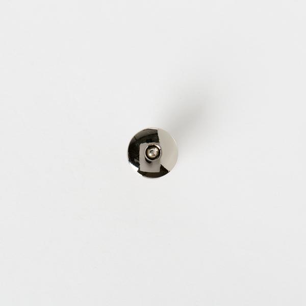 銅製圓磁釦 銀色 18x18mm