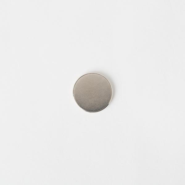 隱形圓型磁釦 銀色 18*2mm 2入