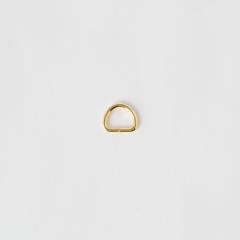半圓提耳環 金色 10mm 4個