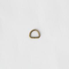 半圓提耳環 銅色 10mm 6個
