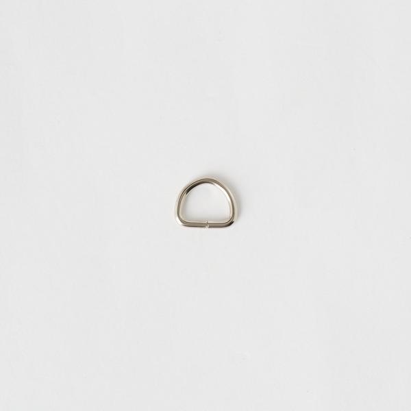 半圓提耳環 銀色 10mm 6個