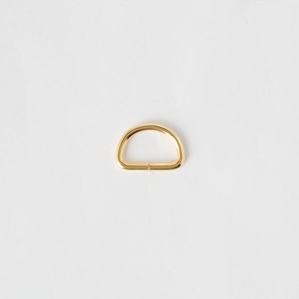 半圓提耳環 金色 15mm 4個