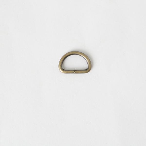 半圓提耳環 銅色 15mm 4個