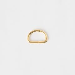 半圓提耳環 金色 2cm 4個