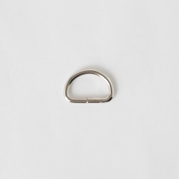 半圓提耳環 銀色 2cm 4個