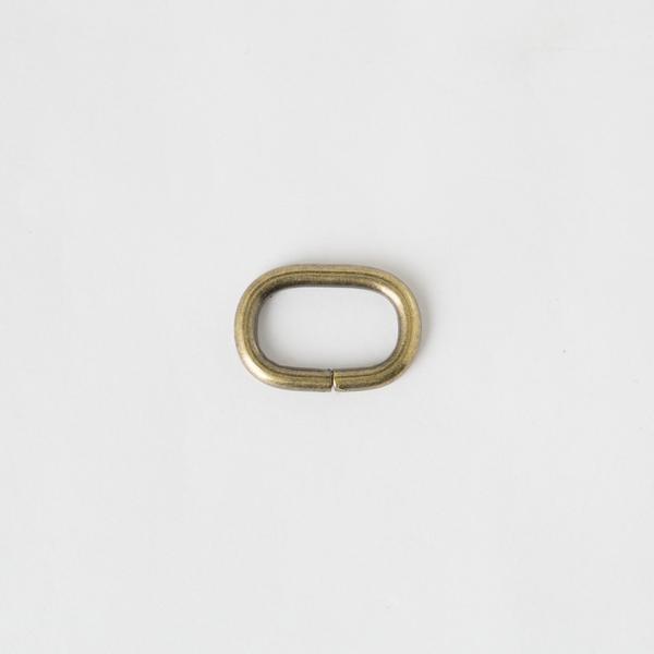 蛋形提耳環 銅色 2cm 4個