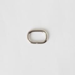 蛋形提耳環 銀色 20mm 4個