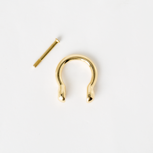 葫蘆型吊耳 金色 20mm 2個