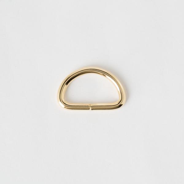 半圓提耳環 金色 25mm 2個
