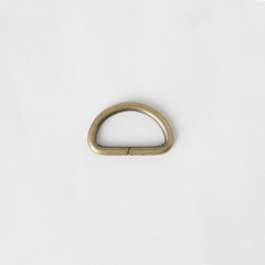 半圓提耳環 銅色 2.5cm 4個