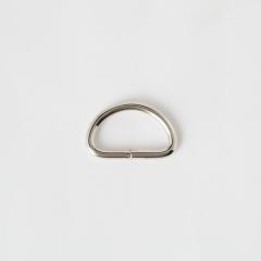半圓提耳環 銀色 2.5cm 4個