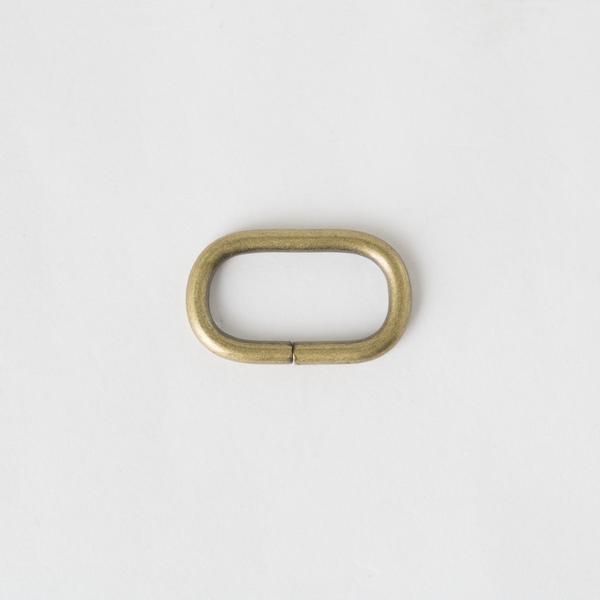 蛋形提耳環 銅色 2.5cm 4個