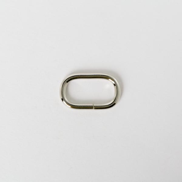 蛋形提耳環 銀色 2.5cm 4個