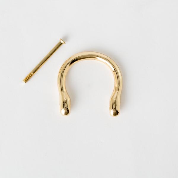 葫蘆型吊耳 金色 25mm 2個