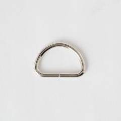 半圓提耳環 銀色 30mm 4個 不二價