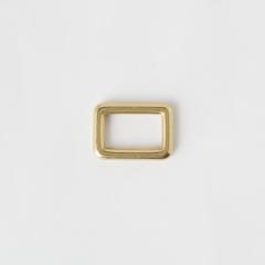 純銅方提耳 黃銅色 20mm 2個