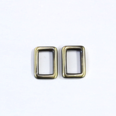 Solid Brass Oblong Ring Nickel 20mm 2 Pieces
