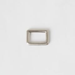 純銅方提耳 銀色 20mm 2個