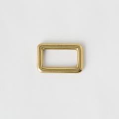 純銅方提耳 黃銅色 2.5cm 2個