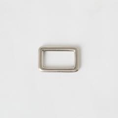 純銅方提耳 銀色 2.5cm 2個