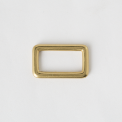 純銅方提耳 黃銅色 30mm 2個